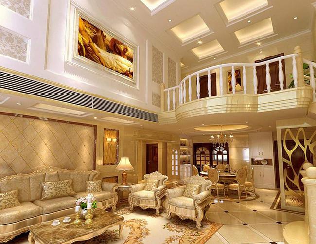 房屋装修 客厅装修 别墅客厅设计,豪华别墅客厅装修案例赏析  该欧式