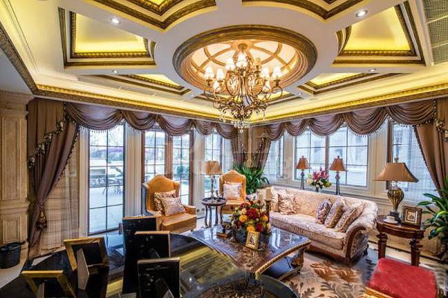 案例客厅设计,豪华别墅客厅装修别墅赏析独别墅万科栋图片