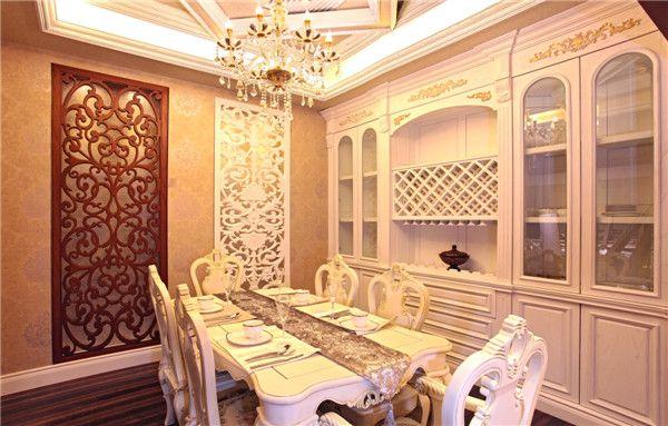 原木餐厅效果图之欧式风格餐厅
