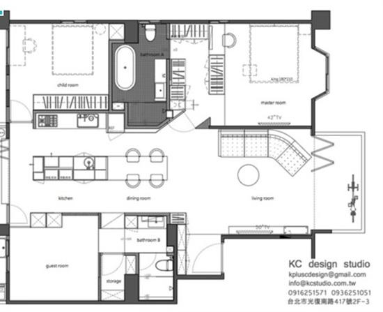 台北116平方米工业风格家居装修案例
