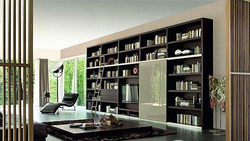 史上最全的30个客厅书架装修效果图集