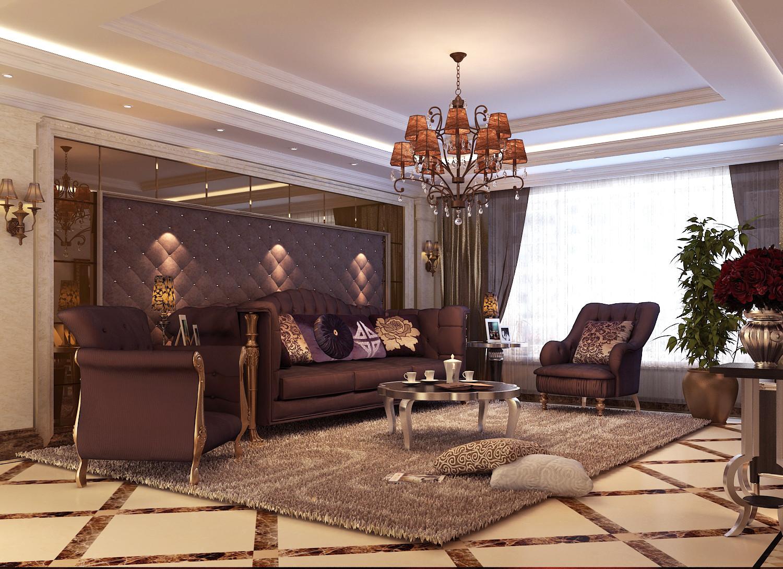 华翰国际公寓240平新古典风格