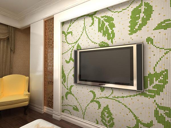 客厅电视背景墙巧用马赛克装饰装修案例