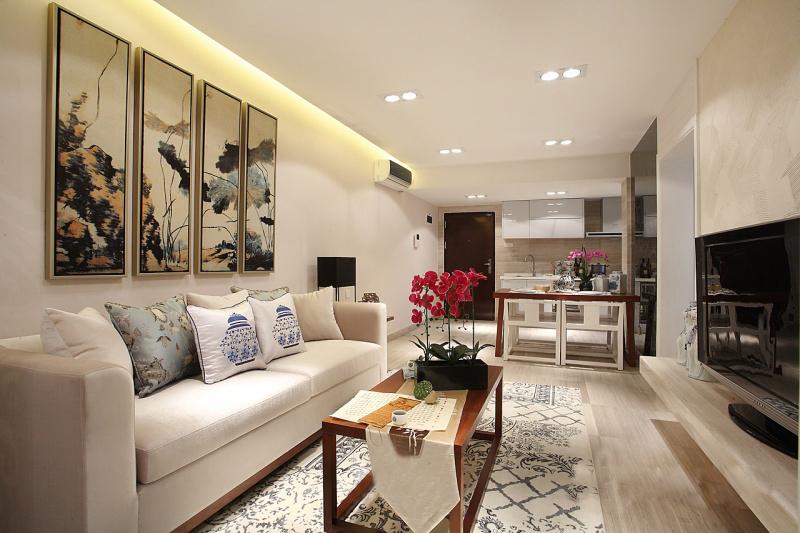 【万景橘苑】98平三居室现代中式风