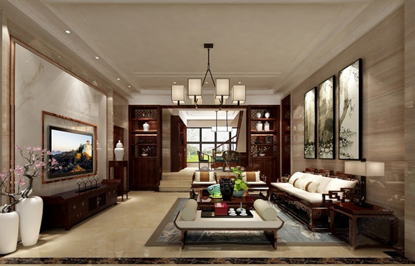 福州装修案例分享:两套福清别墅客厅装修案例
