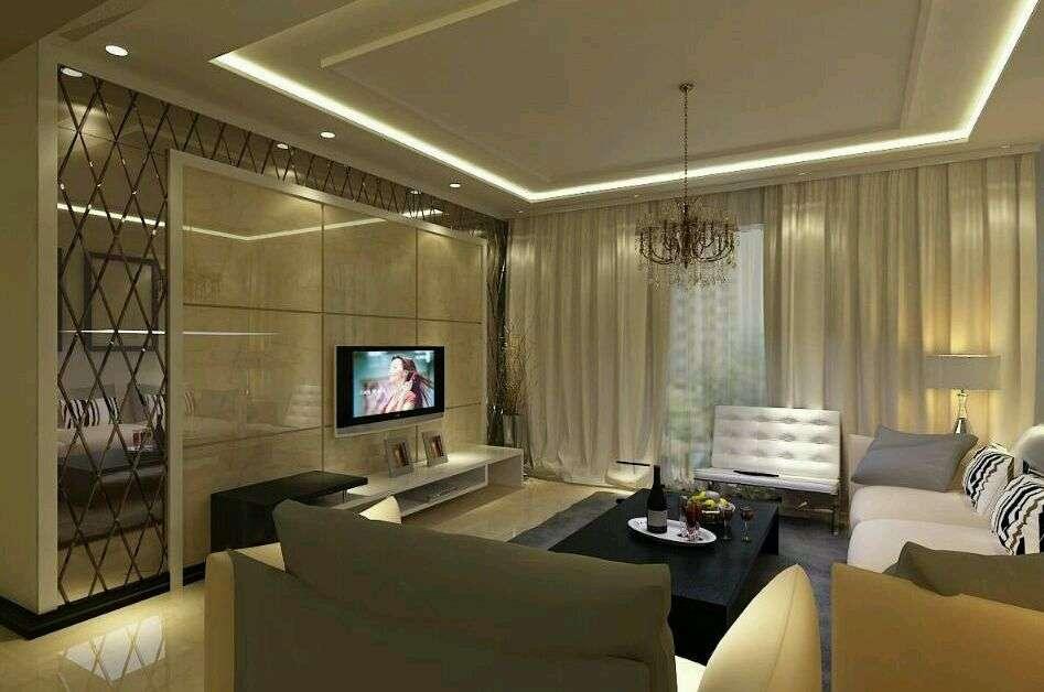 微晶石瓷砖电视背景墙装修效果图