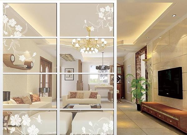 2016年最新客厅隔断玻璃移动门效果图大全