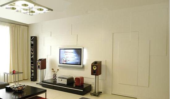 客厅电视背景墙暗门装修案例赏析