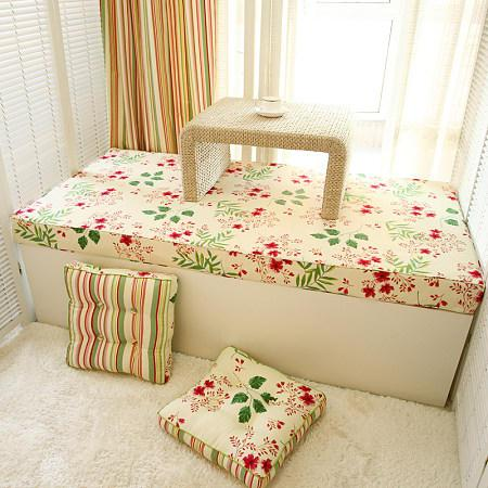 室内软装修之客厅飘窗垫怎么做?
