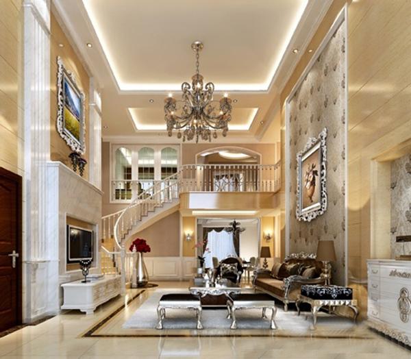 楼中楼客厅装修设计效果图大全