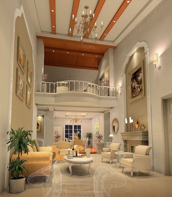 楼中楼客厅装修设计效果图大全 保驾护航装修网