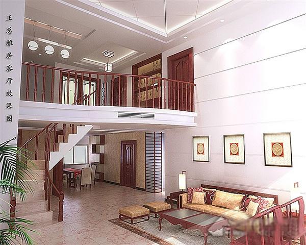 楼中楼客厅吊顶装修设计图片大全