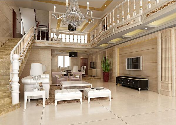 该客厅一楼和二楼都有客厅,一楼客厅天花高,整个吊顶简约设计,黄色边框装饰,看起来舒适大方。最特色的就是这个吊灯了,小编很喜欢。 楼中楼客厅吊顶装修设计图片大全
