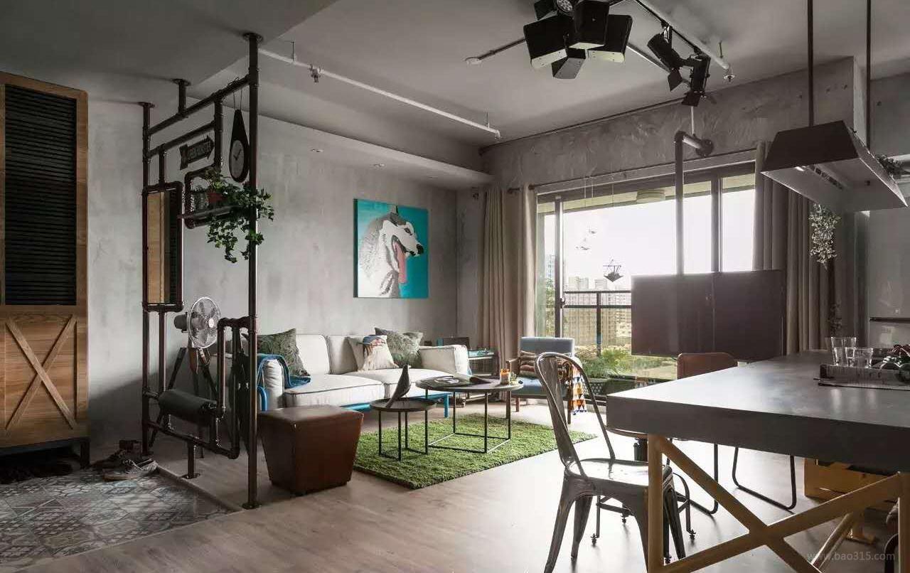 设计案例 【玉兰广场loft工业风】实景案例 展示  装修类型:家装 小区