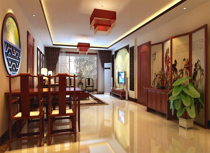 16.8万五口之家高端大气新中式家居