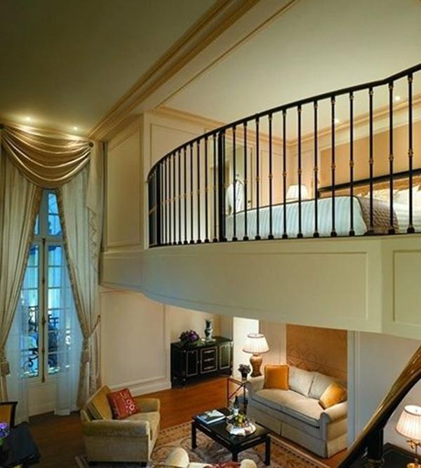 2016年楼中楼客厅窗帘装饰效果图