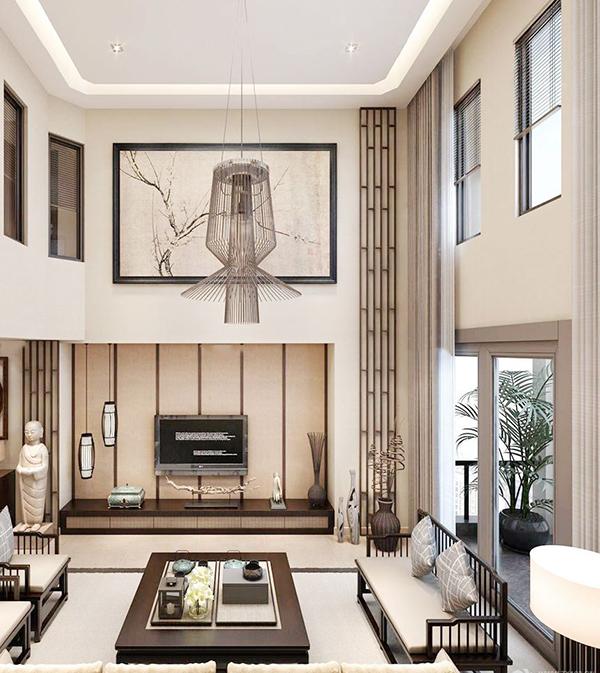 2016年楼中楼客厅窗帘装饰效果图_保驾护航装修网
