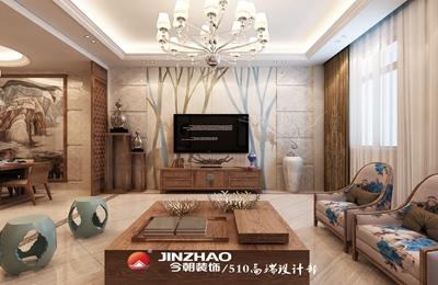 天津今朝装饰 — 翰吉斯商务区320平米新中式