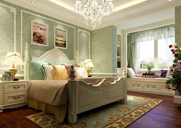 浪漫法式风格卧室装修效果图欣赏图片