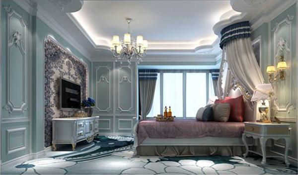 而法式风格的卧室设计,更是优雅的像公主房一般.图片
