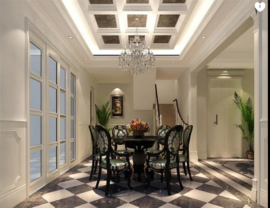 四居室法式风格楼中楼装修设计案例图片