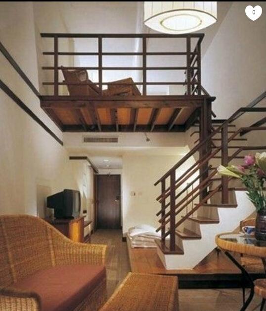 中式楼中楼楼梯装修设计效果图赏析