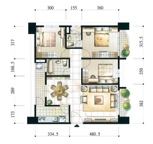 学装修 装修宝典 如何看懂设计图纸  从原始户型图入手   从事家庭装