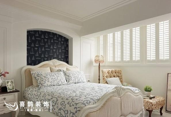 90平地中海风蔚蓝二居室装修效果图
