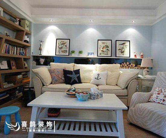 优雅清新设计 120平明快自然三居室