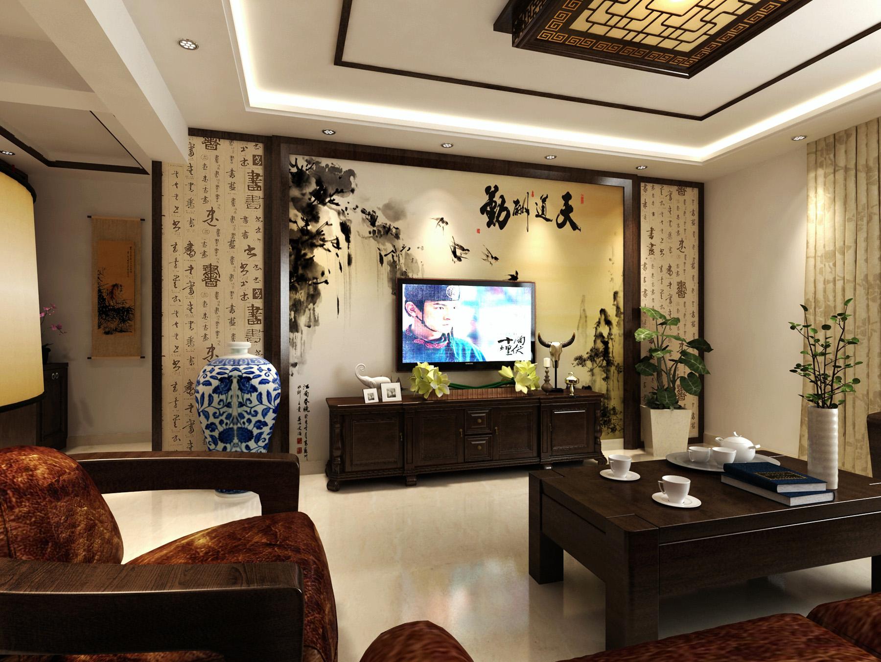 府东公馆-新中式风格-三居室
