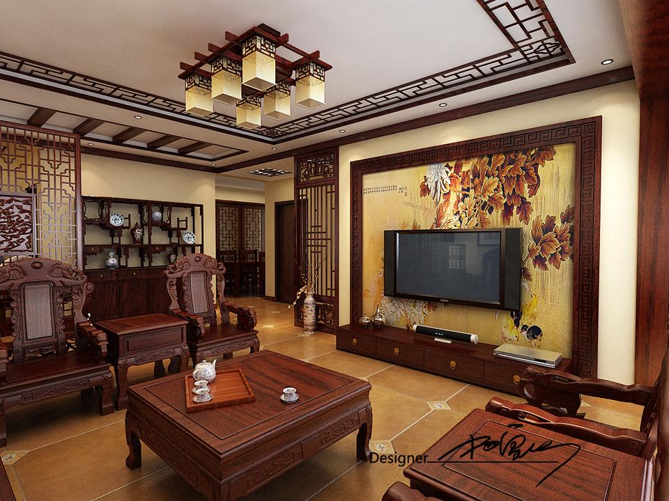 兰亭御湖城-中式风格-四居室