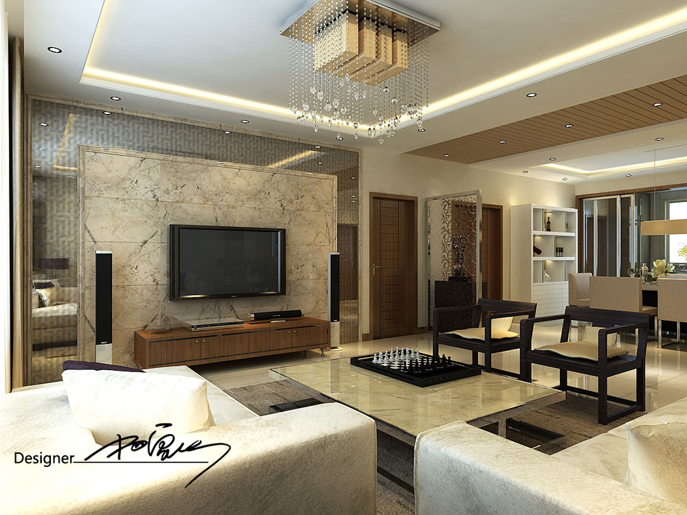 绿地塞纳公馆-新中式风格-三居室