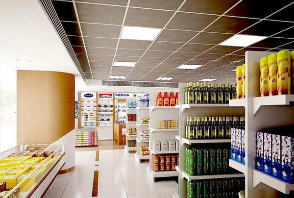 接下来给搭建介绍一些超市吊灯装修效果图吧!