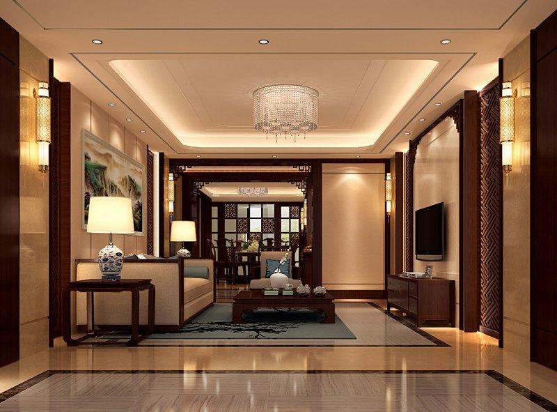 【康之居装饰】莱蒙都会-三居室-新中式装修风格