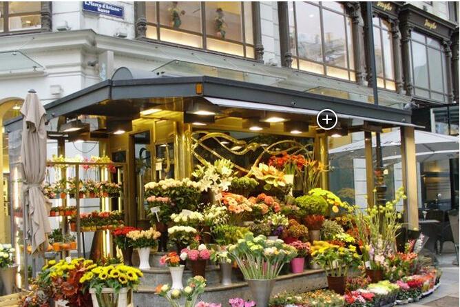外国时尚花店门头设计装修效果图图片