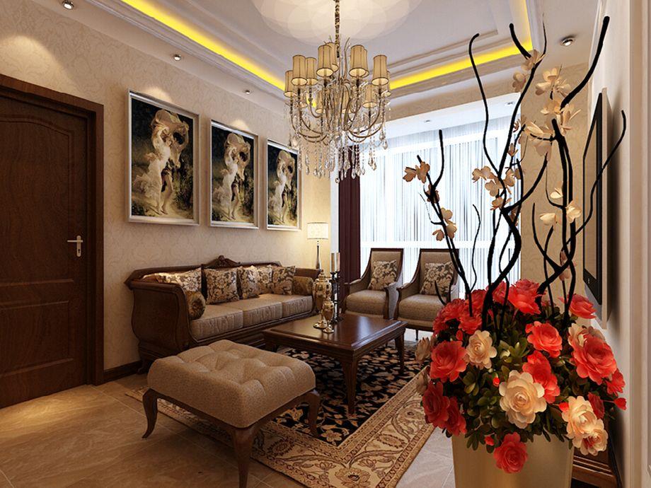 富力阳光美园-中式风格-三居室