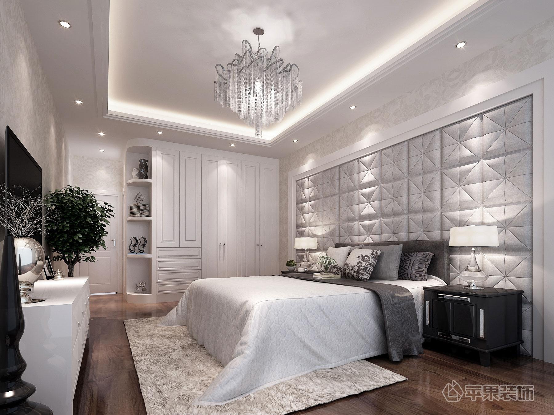 保利温泉150平方白欧设计