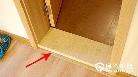 门槛石安装与地漏安装工艺