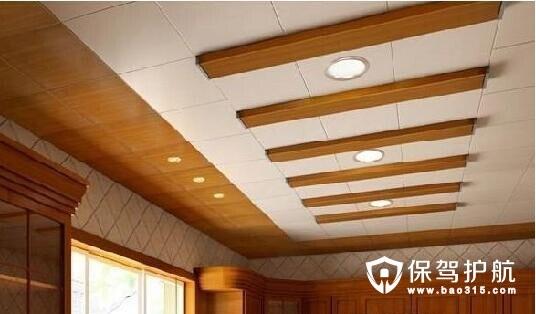 吊顶材料有矿棉板,石膏板,木板,pvc塑料,铝扣板,铝塑板玻璃,金属等几