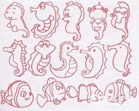 海洋生物简笔画教程