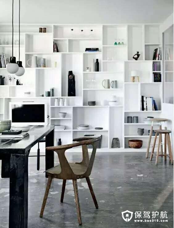 北欧风格书架隔板装饰效果图赏析图片