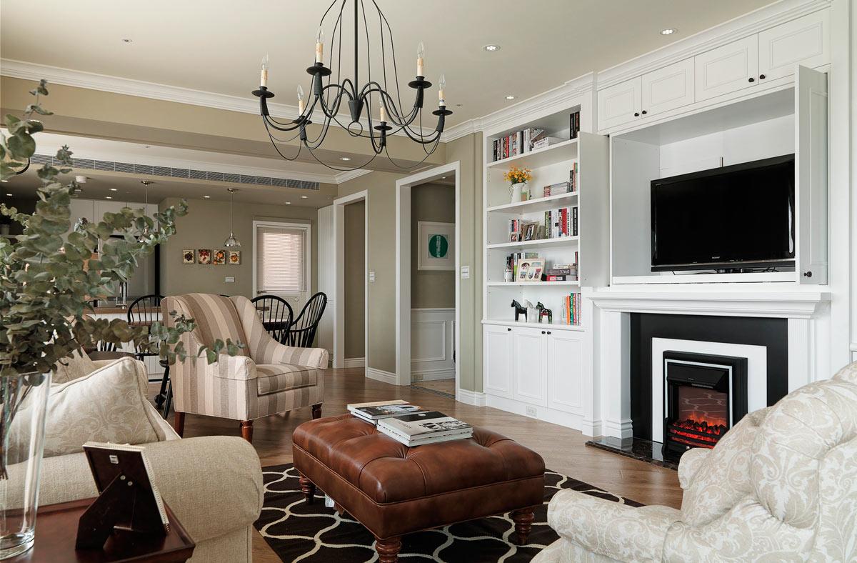东海柠檬郡--美式风格--三居室装修效果图
