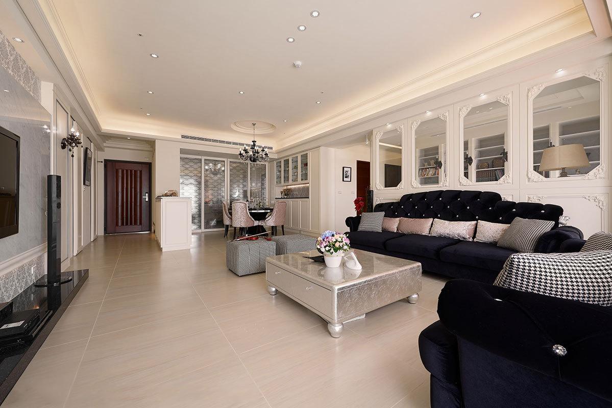 理想银泰城--新古典风格--三居室装修效果图