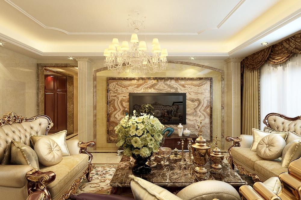 苏州雅腾装饰  越湖名邸145平欧式风格案例设计效果图