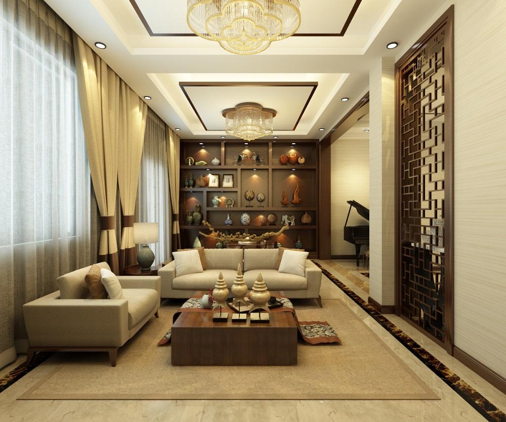 苏州雅腾装饰  保利独墅西岸171平新中式风格案例设计效果图