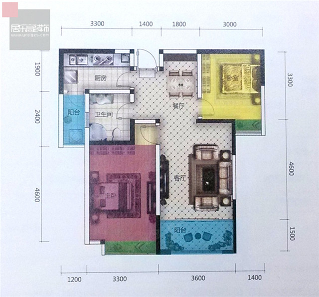 双河湾2室88平D3户型分析 | 效果图+户型