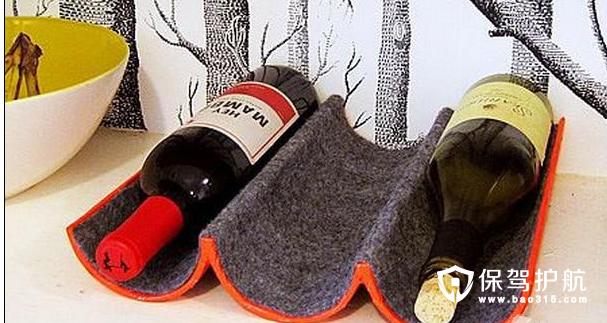 手工制作纸质红酒架
