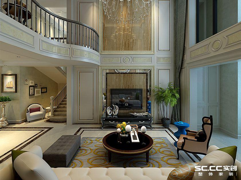 南熙福邸288平别墅欧式风格装修设计效果图