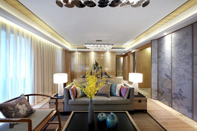 145平原木中式风格清风设计,追求心素如简、人如淡菊的意境