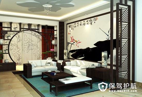 中式客厅壁画鉴赏